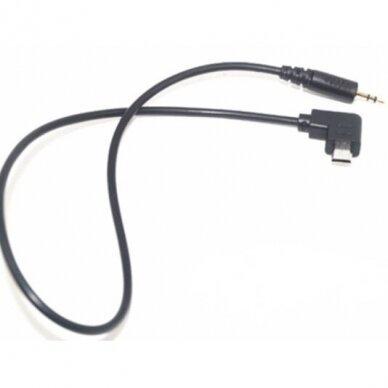 """2,5 mm nuotolinio užrakto paleidimo kabelis su laidu S2 - 90 laipsniu skirtas """"Sony"""""""