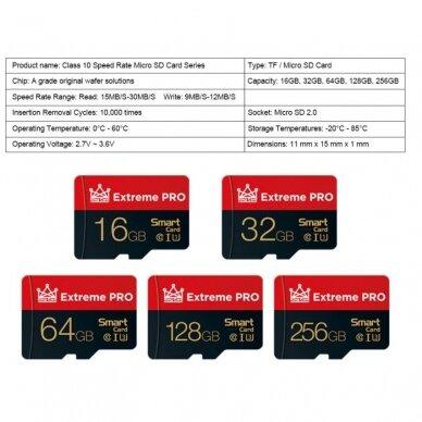 256 GB Micro SD tipo atminties kortelė