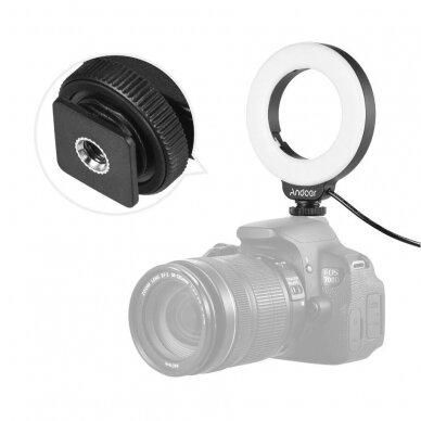 4 colių fotografijos apšvietimo šviesos diodų žiedas 5