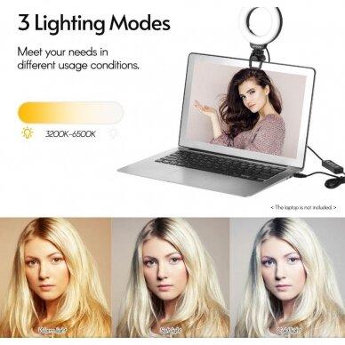 4 colių fotografijos apšvietimo šviesos diodų žiedas 6