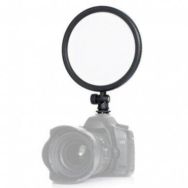 apvalus LED šviestuvas Andoer CM-200D 2
