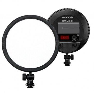 apvalus LED šviestuvas Andoer CM-200D