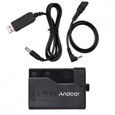 Canon LP-E10 baterijos maitinimas nuo USB 6