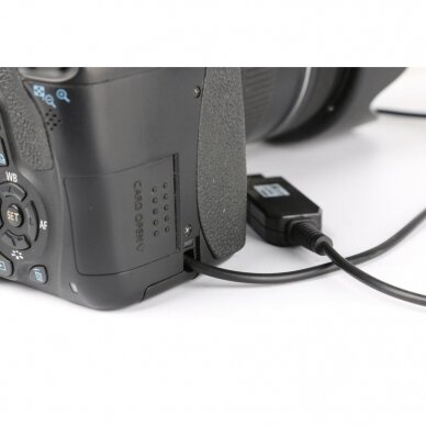 Canon LP-E8 baterijos maitinimas nuo USB 3