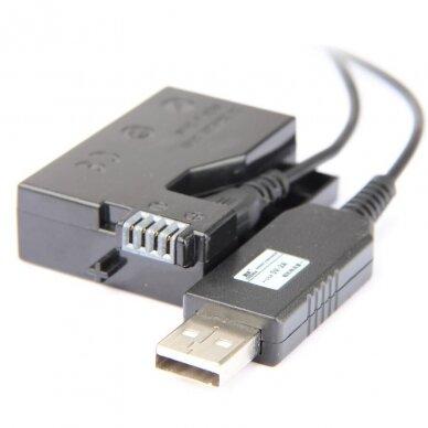 Canon LP-E8 baterijos maitinimas nuo USB 2