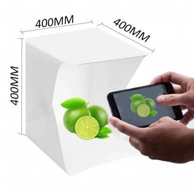 daiktų fotografavimo dėžė 40x40x40 cm
