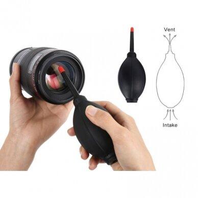 dulkių pūtiklis objektyvui, fotoaparatui 3