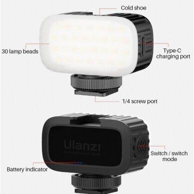 mažas led šviestuvas Ulanzi VL30 5
