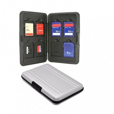 sidabrinis SD ir Micro sd dėklas 2