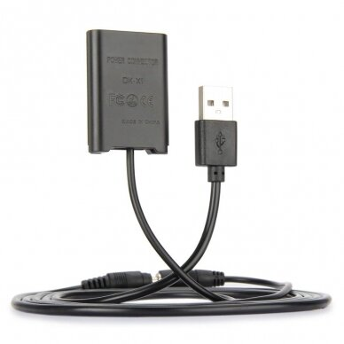 Sony BX-1 baterijos maitinimas nuo USB