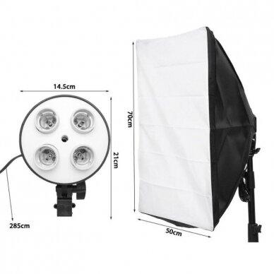 stovas su apšvietimo lempa - 4 lempoms ( be lempų) 2