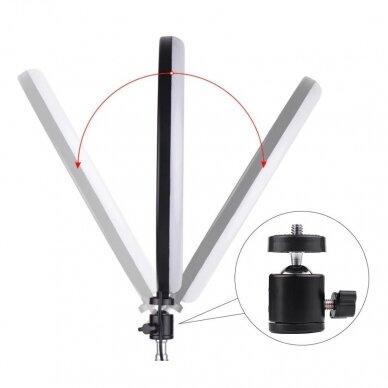 žiedinė LED lempa su valdikliu 24 cm 5